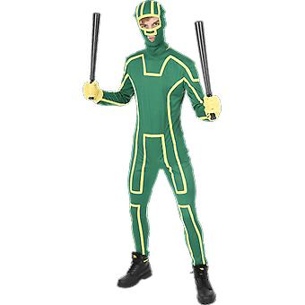 Orion Costumes Mens Green Ninja Kick Ass Superhero Fancy Dress Costume