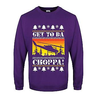 Grindstore Mens Get To Da Choppa Christmas Jumper