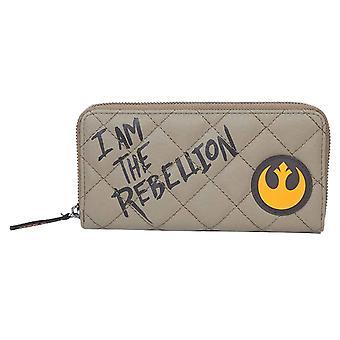 Star Wars Purse Soy el logotipo de la rebelión nuevo oficial Beige Zip Alrededor
