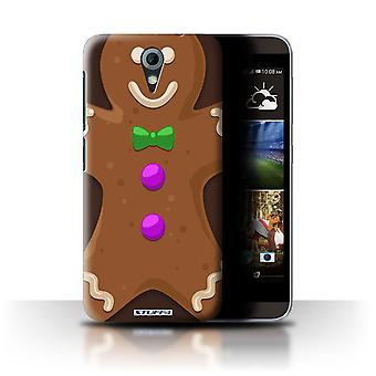 STUFF4 Custodia/Cover per HTC Desire 820 Mini/Gingerbread Man/natale personaggio