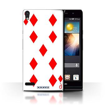 STUFF4 Case/Cover for Huawei Ascend P6 3G/9 of Diamonds/Playing Cards