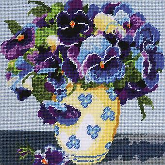 Stiefmütterchen Needlepoint Kit 10