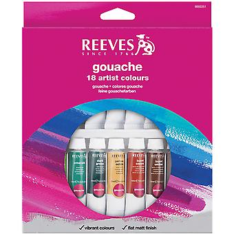Reeves Gouache aquarel 10Ml 18 Pkg assorti kleuren 8793351