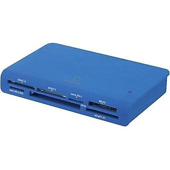 External memory card reader USB 3.0 Renkforce CR24e-G Blue
