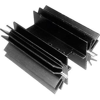 Fin heat sink 5 C/W (L x W x H) 38.1 x 41.6 x 25 mm TO 220, TOP 3, SOT 32 ASSMANN WSW V8511X