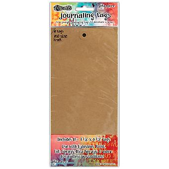 Dyan Reaveley's Dylusions Journal Tags 10/Pkg-Kraft #10 DYATAGS-47797