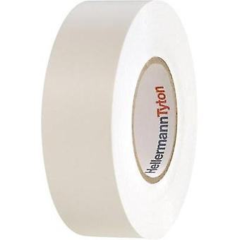 Electrical tape HellermannTyton HelaTape Flex 1000+ White (L x W) 20 m x 19 mm Content: 1 Rolls