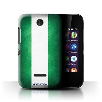 STUFF4 Case/Cover for Nokia Asha 230/Nigeria/Nigerian/Flags