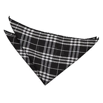 Black & White Tartan Handkerchief / Pocket Square