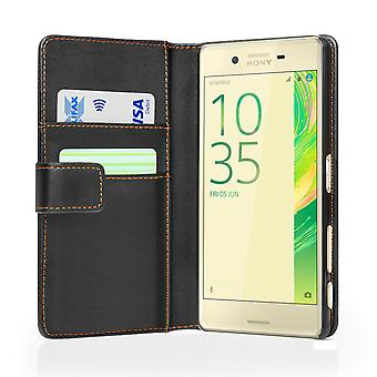 Yousave Accessories Sony Xperia X Performance LeatherEffect Wallet Case Black