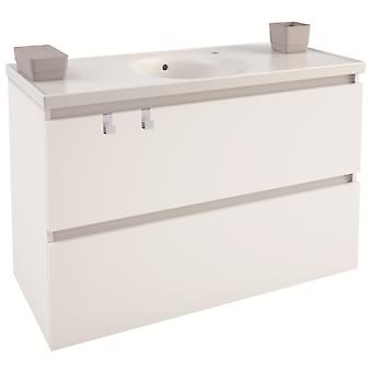 Bath+ Cabinet 2 Drawers With White Porcelain Sink Mate 100cm