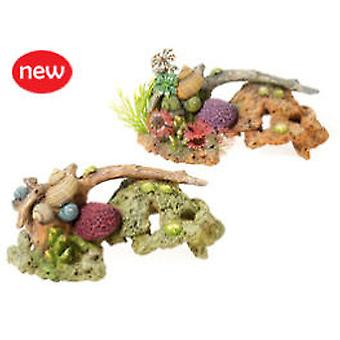 Classic For Pets Stone Coral & Branch 2pcs (Fish , Decoration , Ornaments)