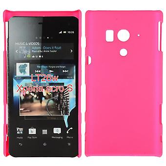 Smooth plastic cover hard to Sony Xperia acro S LT26w (Pink)
