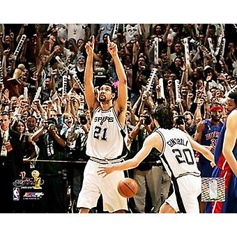 Tim Duncan 2005 - NBA Championship Celebration