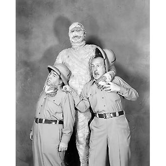 Abbott And Costello Meet de mummie Lou Costello Eddie Parker Bud Abbott [Abbott en Costello] 1955 foto afdrukken