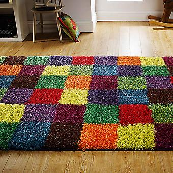 Festival Shaggy Multi Coloured Rugs 1923X