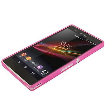 Beschermende cover case ultra dunne 0.3 mm voor mobiele telefoon Sony Xperia Z / L36H / C660X pink transparant