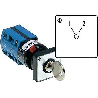 Changeover switch 10 A 1 x 60 ° Grey, Black