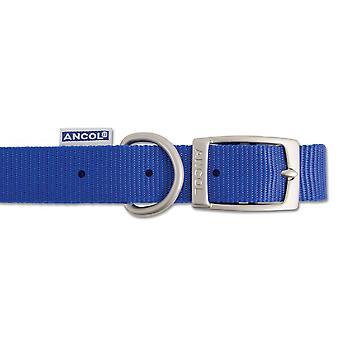 Heritage Nylon Collar Blue 15mm X28-36cm Sz3