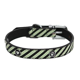 Wag N Walk Designer Collar Mint Stripe 12-16