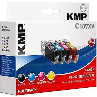 KMP Ink replaced Canon CLI-571 XL Compatible Set P
