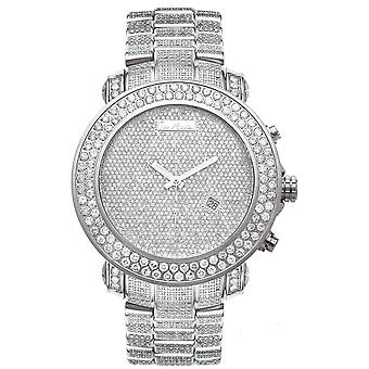 Joe Rodeo diamond men's watch - JUNIOR silver 23.9 ctw