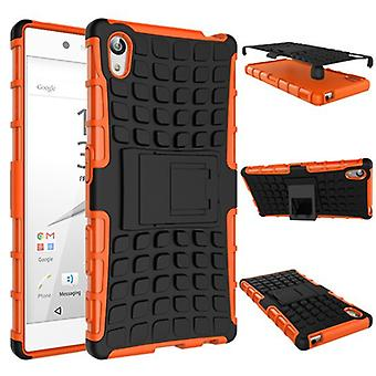 Hybrid case 2 piece SWL robot Orange for Sony Xperia Z5 5.2 inch