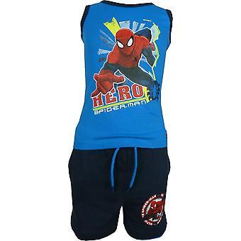 Gilet senza maniche ragazzi Marvel Spiderman & pantaloncini impostato OE1099. I00