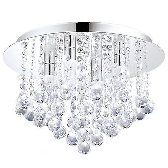 Eglo ALMONTE Chrome Hanna Crystal Ceiling Light