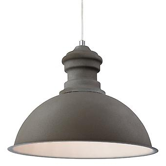 Firstlight Modern Concrete Dome Shade Ceiling Pendant Light Fitting