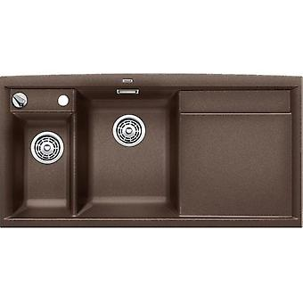 Blanco Axia Ii 6S sink and drainer coffee right