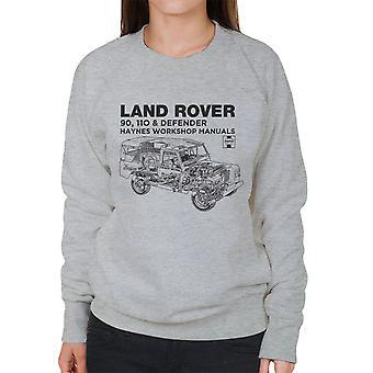 Haynes Owners Workshop Manual Land Rover Defender Black Women's Sweatshirt