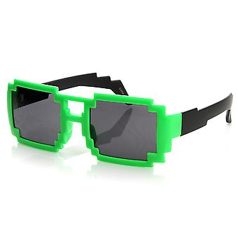 Colorful Square Aviator Digital CPU 16-Bit Graphics Gamer Geek Pixel Sunglasses