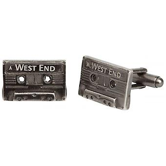 Simon Carter West End Cassette Tape Cufflinks - Silver