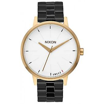 Nixon de Kensington Watch - zwart/licht goud/wit