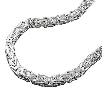 Bangle Silver King chain square polished 23.5 cm Silver 925