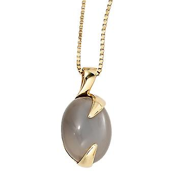 Pendant Moonstone pendant 585 Gold Yellow Gold 1 moon stone