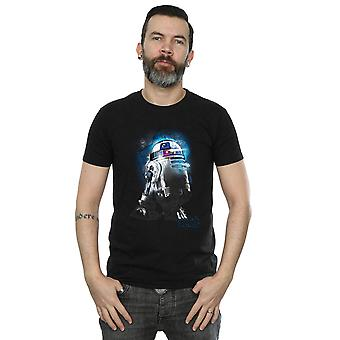 Star Wars Men's The Last Jedi R2-D2 Brushed T-Shirt