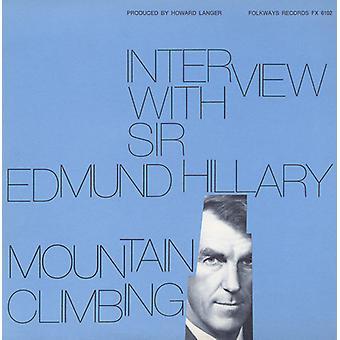 Sir Edmund Hillary - Interview med Sir Edmund Hillary: bjerg Climbi [CD] USA import
