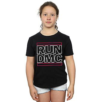 Run DMC meisjes Neon Logo T-Shirt