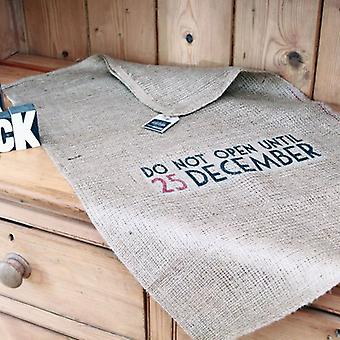 East of India 'Do Not Open Until 25 December' Hessian Santa Sack / Present Sack Vintage Style!