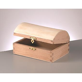 Wood Chest with Clasp to Decorate 13.3x9.5x7cm | Pirate Treasure Chests
