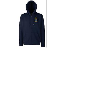 Royal Marines Globe And Laurel Embroidered Logo - Official MOD - Zipped Hoodie Jacket