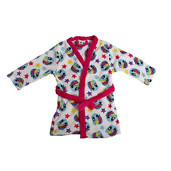 My Little Pony Childrens Pink & White Girls Bath Robe Dressing Gown In Giftbox