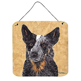 Australian Cattle Dog Aluminium metalen wand of deur hangen Prints