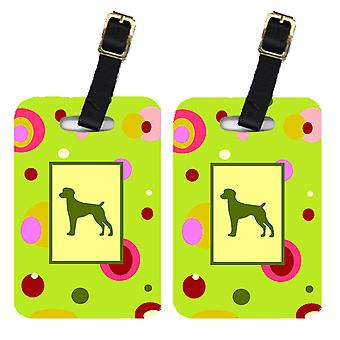Carolines Treasures  CK1035BT Pair of 2 German Shorthaired Pointer Luggage Tags