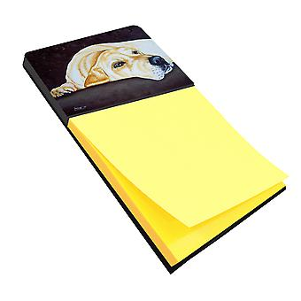 Carolines Treasures  AMB1072SN Naptime Yellow Labrador Sticky Note Holder