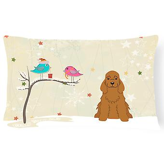 Christmas Presents between Friends Cocker Spaniel Red Canvas Fabric Decorative P