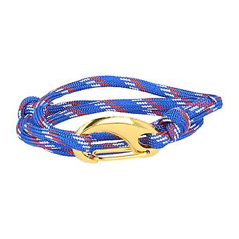 Vikings bracelet blue-white-red lobster clasp gold
