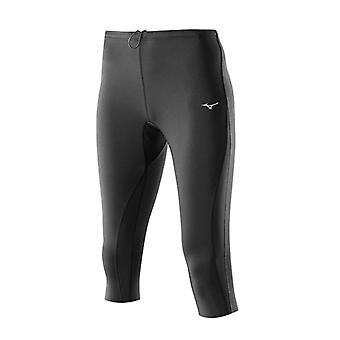 Mizuno AW14 Womens Breath Thermo Knee Long Running Tights Small Black